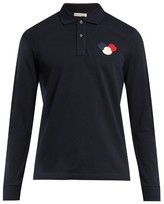 Moncler Logo-appliqué long-sleeved polo shirt