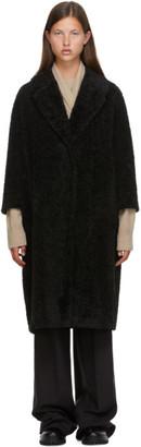 S Max Mara Black Sherpa Neva Coat