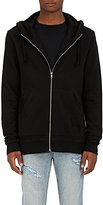 "Ksubi Men's ""Slash Slub Decon"" Cotton Hoodie-BLACK"