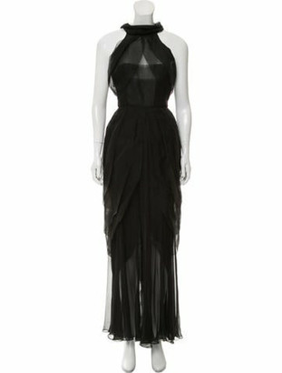 Chanel Silk Evening Dress Black