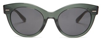 The Row X Oliver Peoples Georgica Cat-eye Sunglasses - Green