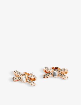Ted Baker Sabla bow crystal stud earrings
