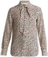 Max Mara Leaf-print silk blouse
