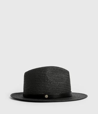 AllSaints Eliza Straw Fedora Hat