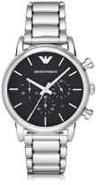 Emporio Armani Silver Tone Stainless Steel Men's Watch