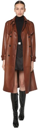 Prada DOUBLE BREASTED LEATHER TRENCH COAT