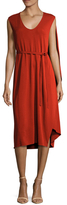 Narciso Rodriguez Jersey Asymmetrical Cape Dress