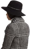 Maison Michel Felted Rabbit Fur Hat with Zipper Trim