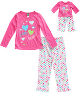 Dollie & Me Pink 'Sweet Dreams' Pajama Set & Doll Outfit - Toddler & Girls