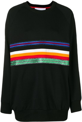 NO KA 'OI Oversized Stripe Front Sweatshirt