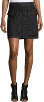 Frame Le Mini A-Line Broome Street Skirt, Black