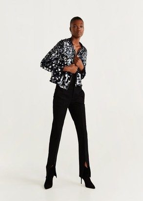 MANGO Sequined bomber black - S - Women