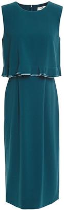Diane von Furstenberg Layered Ruffled Crepe Dress