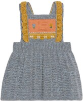 Thumbnail for your product : Gucci Baby wool dress with G