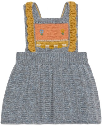Gucci Baby wool dress with G