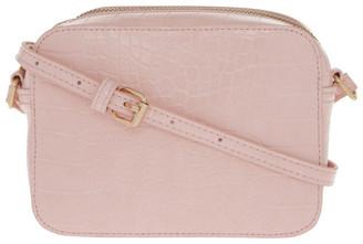 Miss Shop ID-5929 Zip Around Croc Crossbody Bag