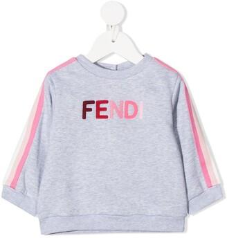 Fendi Kids Embroidered-Logo Sweatshirt