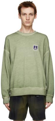 Saturdays NYC Green Washed Ari Peace Sweatshirt