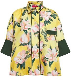 F.R.S For Restless Sleepers Pistis Floral-print Silk-satin Twill Shirt