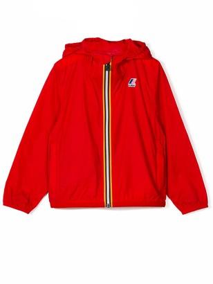 K-Way Red Contrast Zip Up Jacket