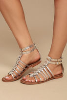 Naughty Monkey Boardwalk Gold Leather Gladiator Sandals