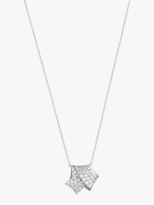 Carelle Jumbo Knot Pave Diamond Pendant