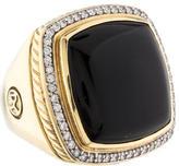 David Yurman Large Albion Onyx & Diamond Ring