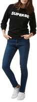 Sugarhill Boutique 'Superbe' Cotton Sweatshirt, Black