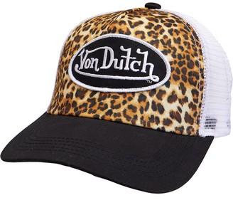 Von Dutch Womens Bonnet Leopard Trucker Black/White