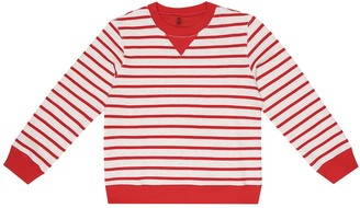BRUNELLO CUCINELLI KIDS Striped cotton sweatshirt