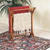 Asstd National Brand Oak Finish Blanket Rack
