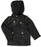 Urban Republic Boy's Quilted Sleeve Hooded Jacket
