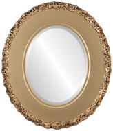 """The Oval And Round Mirror Store Williamsburg Framed Oval Mirror in Gold Spray, 27""""x37"""""""