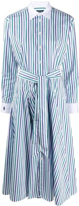 Polo Ralph Lauren Striped Belted Shirt Dress