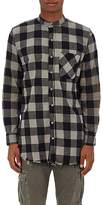 NSF Men's Raw-Edge Buffalo-Checked Cotton Shirt