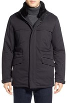 Tumi 'Roadster Luxe' Parka with Genuine Beaver Fur Collar