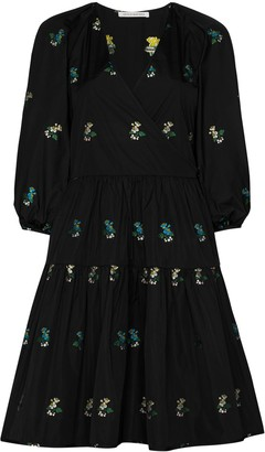 Cecilie Bahnsen Mirabelle floral-embroidered wrap dress