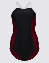 M&S Collection Secret SlimmingTM High Neck Swimsuit
