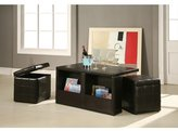 Red Barrel Studio Trout River 3 Piece Coffee Table and Ottoman Set