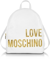 Love Moschino Eco Leather Backpack w/Signature Logo