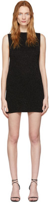 Saint Laurent Black Knit Sleeveless Dress