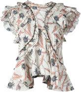 Isabel Marant ruffled floral print top