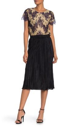 Everleigh Plisse Solid Midi Skirt (Regular & Petite)