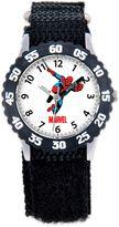 Marvel Children's 32mm Spider-Man Time Teacher Watch in Black