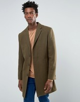 Bellfield Khaki Wool Overcoat