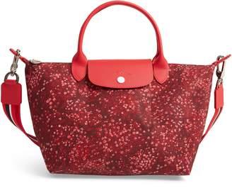 Longchamp Small Le Pliage Floral Print Shoulder Bag