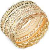 GUESS Textured Bangle Bracelet Set