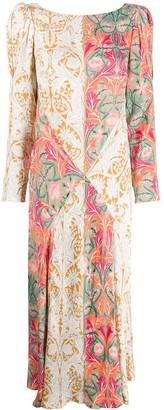 Liberty London May floral print midi dress