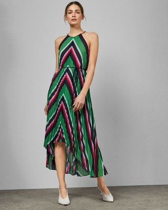 Ted Baker Directional Stripe Maxi Dress