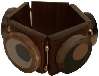 Marni Brown Wood Bracelets